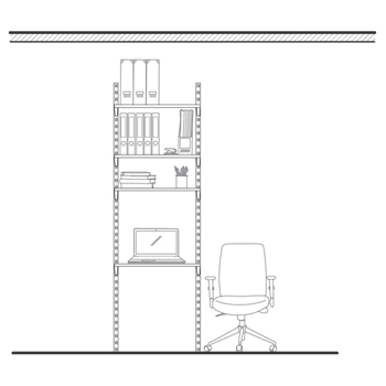 Dans une chambre ou un bureau