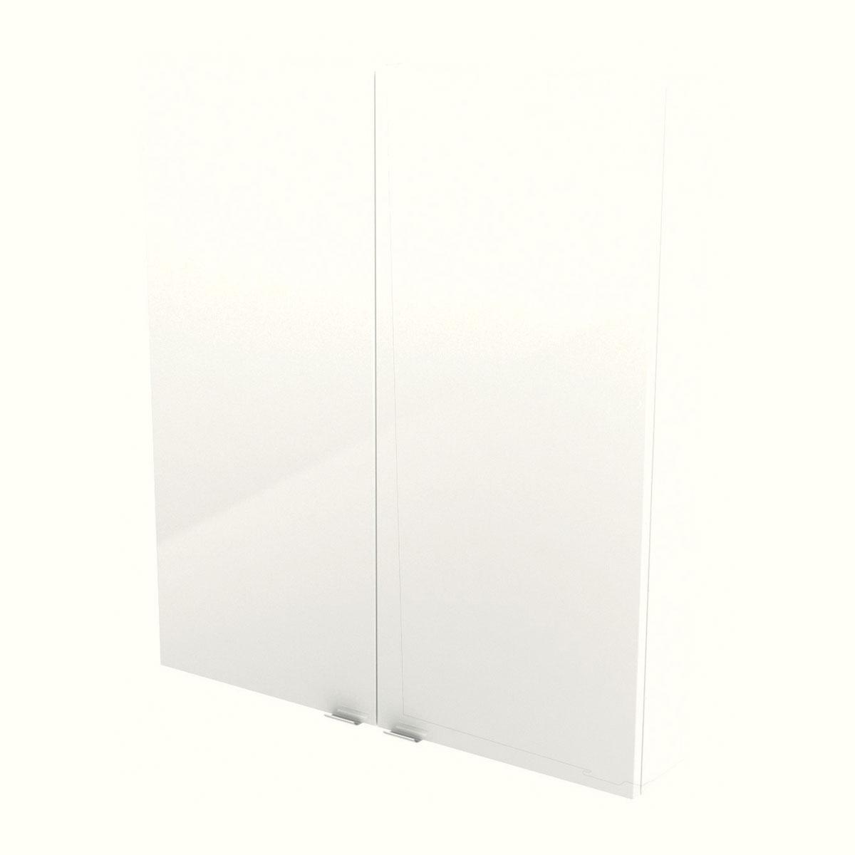 armoire murale blanc imandra l. 80 x h. 90 x p. 15 cm
