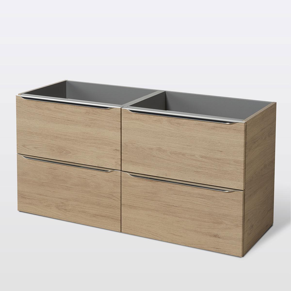 Meuble double vasque imitation chêne Imandra