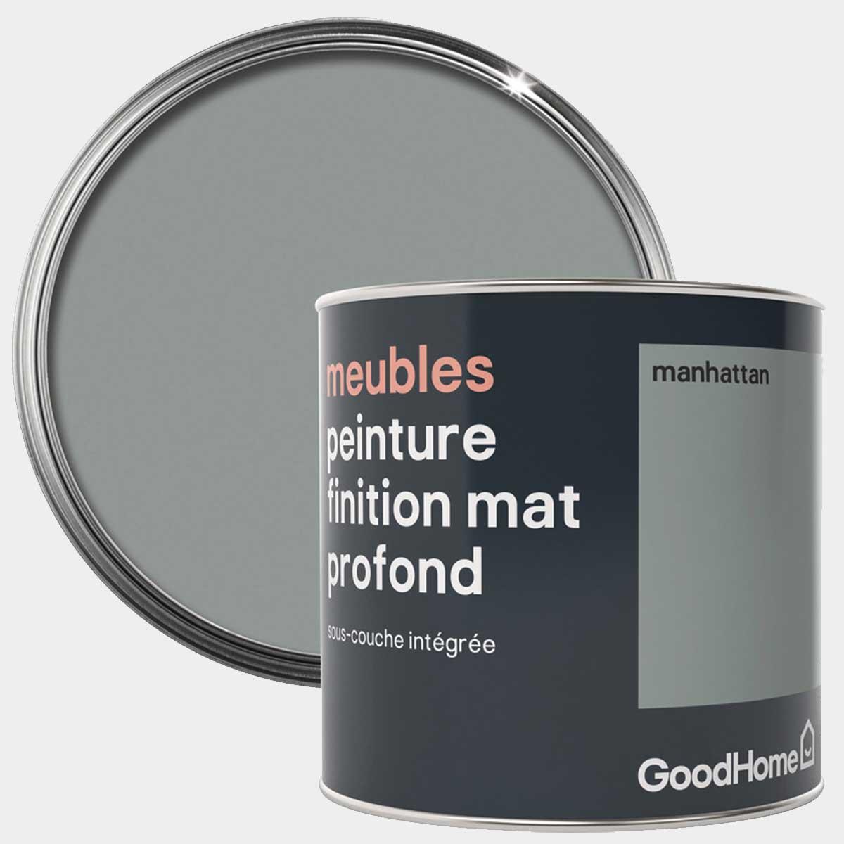 PEINTURE DE RÉNOVATION MEUBLE MAT PROFOND MANHATTAN 0,5 L