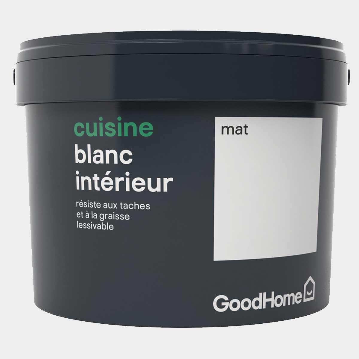 Peinture cuisine 2,5 L mat blanc GoodHome