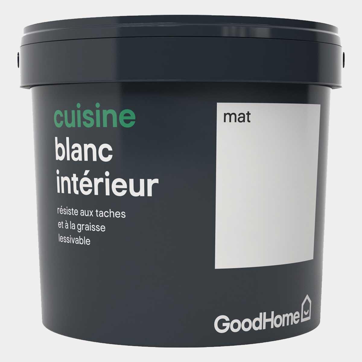 Peinture cuisine blanc GoodHome 5L mat
