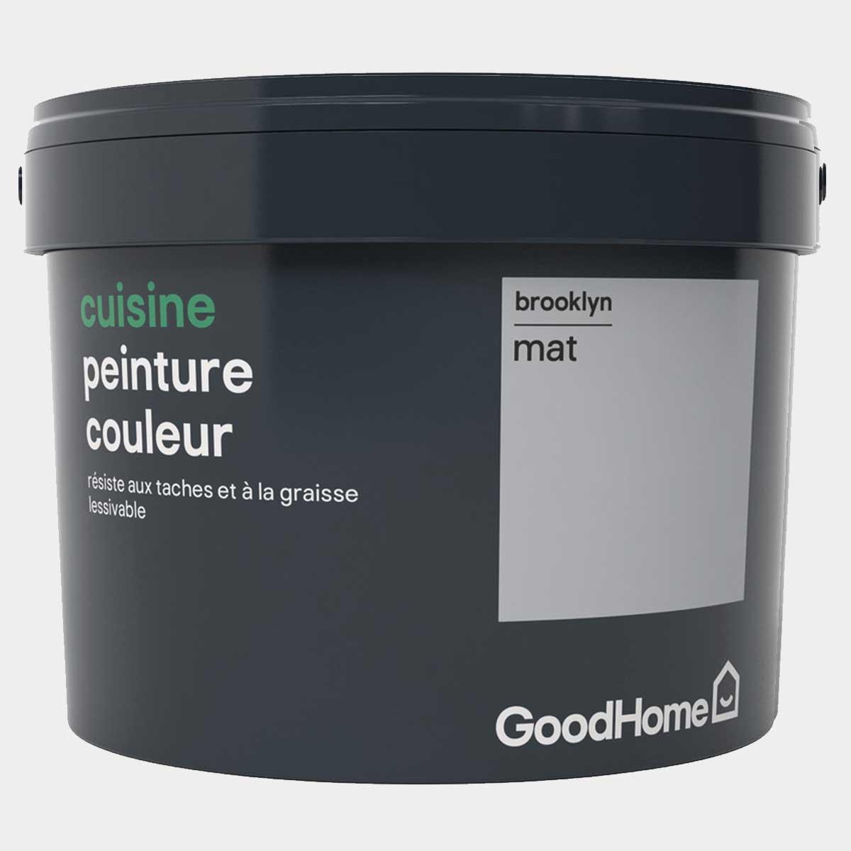 Peinture salle de bains acrylique satin gris Brooklyn 2,5 l