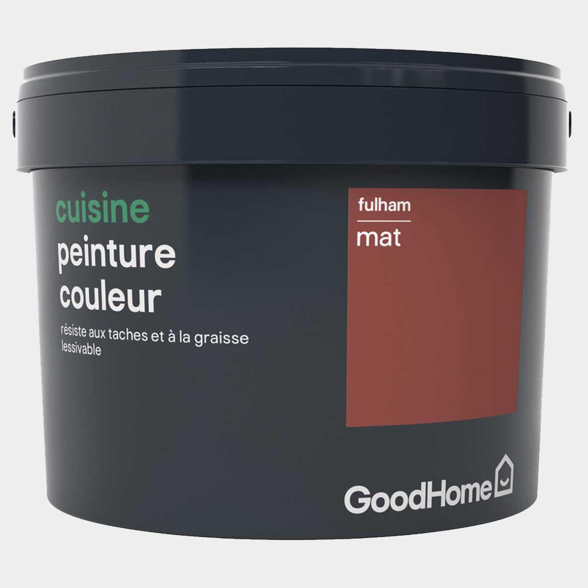 Peinture cuisine acrylique mat rouge Fulham 2,5 l