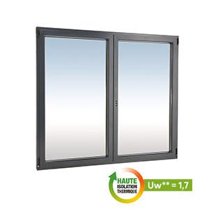 Fenêtre en aluminium gris anthracite droite