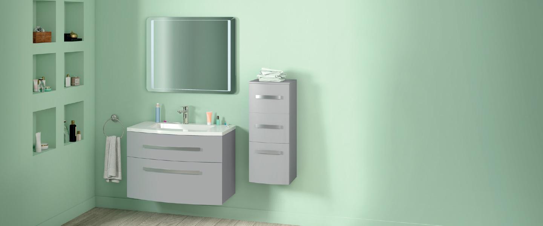 L Ensemble Zen L 90 Cm Le Meuble Le Plan Vasque Le Miroir Brico