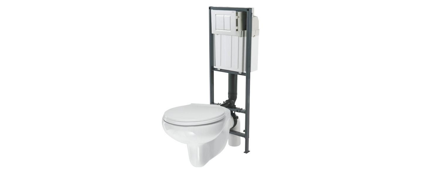"Cuvette Wc Suspendu Carre bâti support ""nonda"" + cuvette wc suspendue ""arkus"""