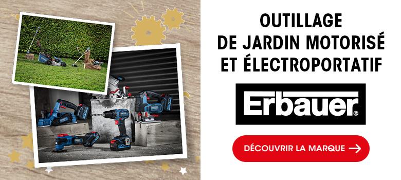 Erbauer - Outillage de jardin motorisé et électroportatif