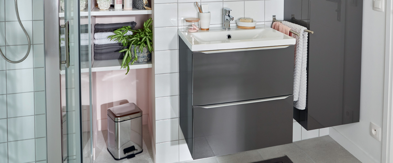 Ensemble meuble + vasque + mitigeur - Brico Dépôt