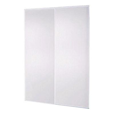 Pack de 2 portes coulissantes blanches