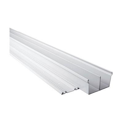 Lot de 2 rails acier laqué blanc L. 270 cm