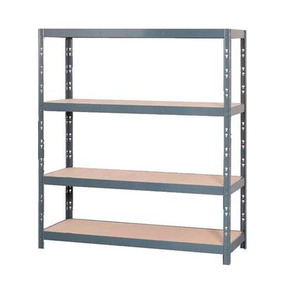 Étagère charge lourde bois / métal - H.180 x L.150 x P.60 cm
