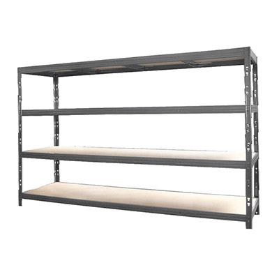 Étagère charge lourde bois / métal - H.185,3 x L.200 x P.60 cm