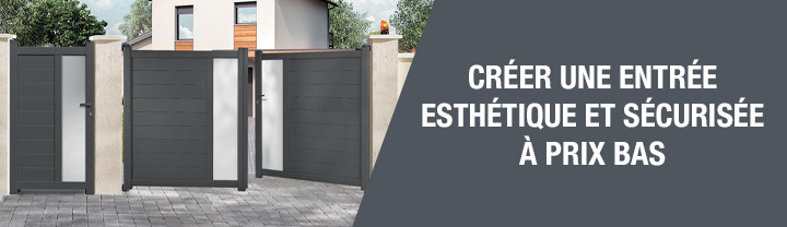 Créer une entrée esthétique et sécurisée à prix bas