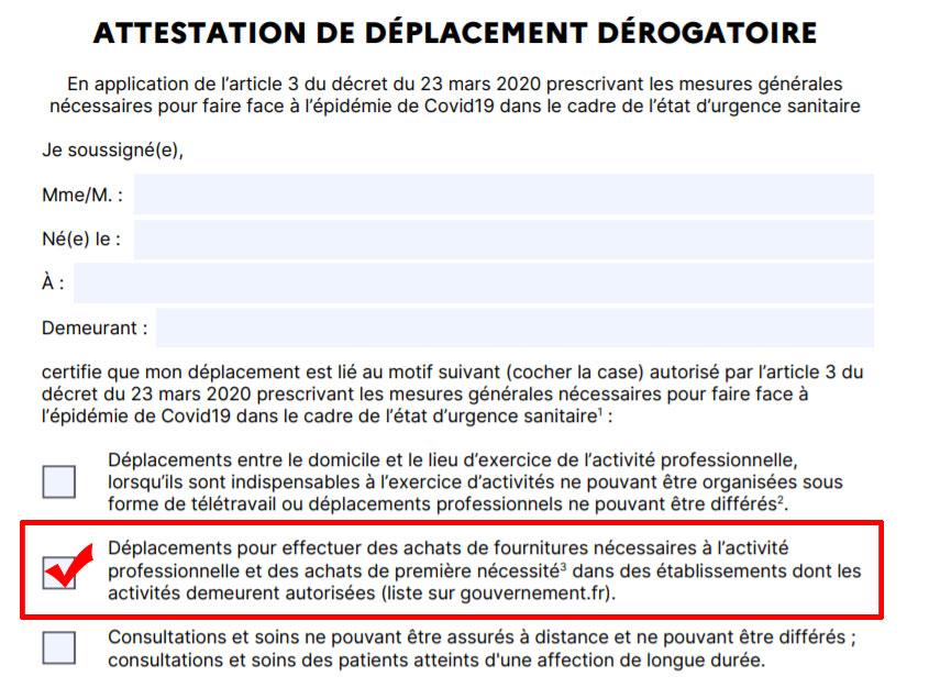 Notice attestation