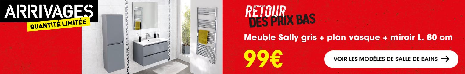 Plan Vasque 60 Cm 50 Cm Meuble Bas Brico Depot