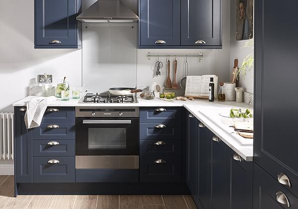 Cuisine Artemisia bleu mat