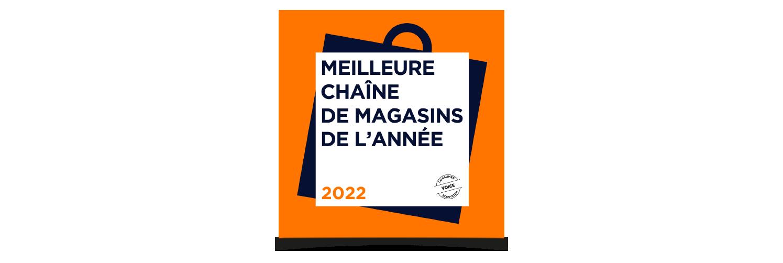 Meilleure chaîne de magasins de l'année 2022