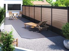 Action Clôture Bordure de pelouse pour vos parterres Palissade Clôture de Jardin marron 3 M