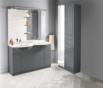 Meuble salle de bain blanc & bois mat Majorca - Brico Dépôt