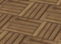 dalle en pin teinte marron 50x50 cm - Dalle Terrasse Composite 50x50