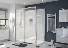 Porte de douche coulissante - porte de douche pliante ...