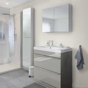 Meuble salle de bain laquée blanc ou gris Imandra - Brico Dépôt