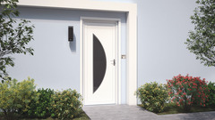 Porte D Entrée Pvc Bois Aluminium Vitrée Métal