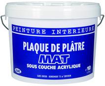 Sous Couche Blanc Mat Pour Application Avant Pose Sur Murs Intérieurs, 10 L