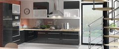 mod le de cuisine moderne et quip e brico d p t. Black Bedroom Furniture Sets. Home Design Ideas