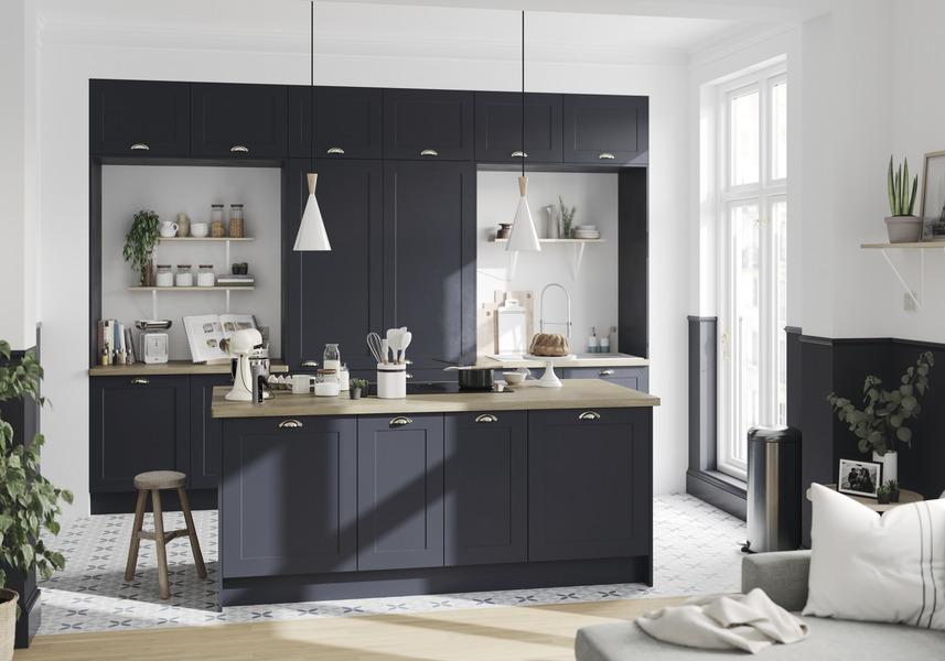 Cuisine Artemisia Bleu Mat Brico Depot