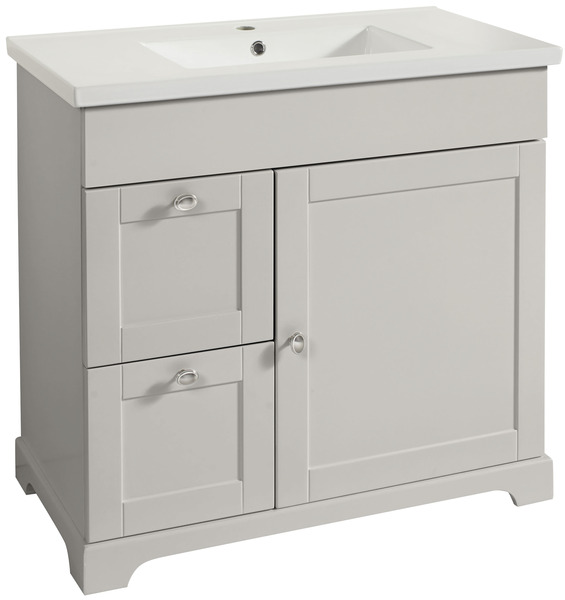 Meuble charme taupe 90 cm le plan vasque brico d p t - Meuble de salle de bain brico depot ...