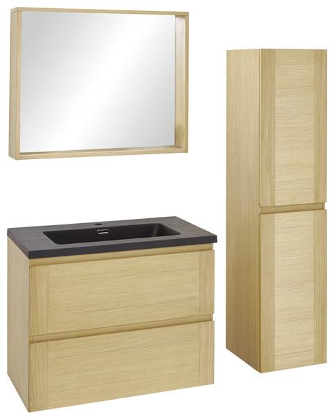 Meuble origin 80 cm le plan vasque brico d p t - Meuble vasque salle de bain brico depot ...