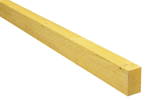 Demi chevron en bois de résineux traité classe 2, L 3 m H 63 mm l 38 mm Brico Dép u00f4t # Bastaing Bois Brico Depot