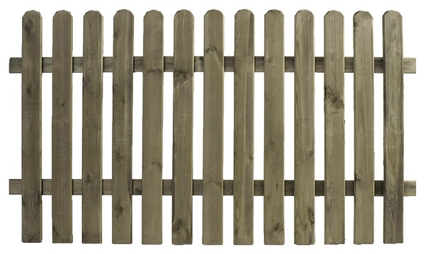 Barri re plate cl ture en bois l 1 80 m h 100 cm ep 19 for Barriere exterieur bois