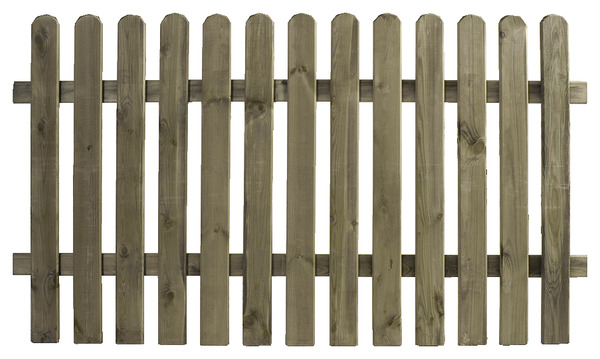 Barri re plate cl ture en bois l 1 80 m h 100 cm ep 19 for Portillon 1m50 de large
