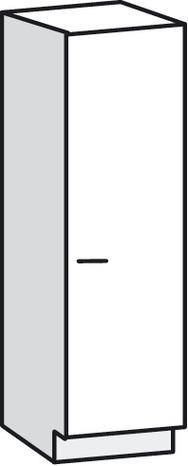 MEUBLE COLONNE 1 PORTE BALI BLANC - L. 40 x H. 200,5 x P. 31,6