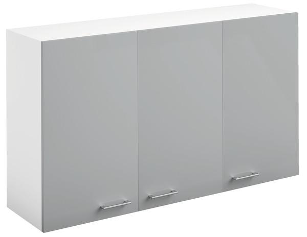 meuble haut 3 portes bali gris l 120 x h 69 x p 316 cm