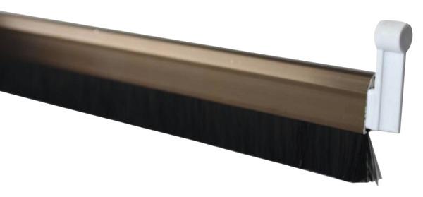 bas de porte automatique aluminium avec brosse visser l 1 m brico d p t. Black Bedroom Furniture Sets. Home Design Ideas