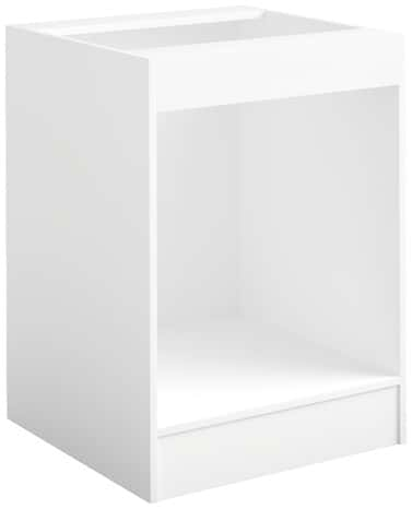 Meuble Colonne Four 2 Portes 2 Niches Bali Blanc L 60 X H 211 X P 57 6 Cm
