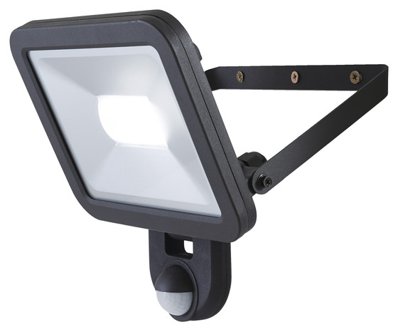projecteur weyburn 30w noir a detection  brico dépôt