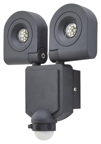 projecteur dryden 2x10w gris detection brico d p t. Black Bedroom Furniture Sets. Home Design Ideas