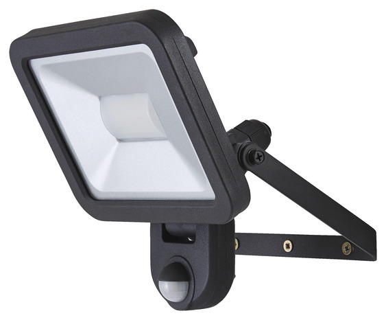 projecteur weyburn 20w noir a detection  brico dépôt