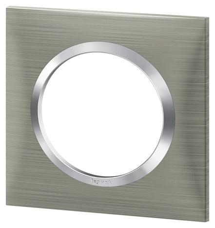 plaque 1 poste carr e inox bross dooxie brico d p t. Black Bedroom Furniture Sets. Home Design Ideas