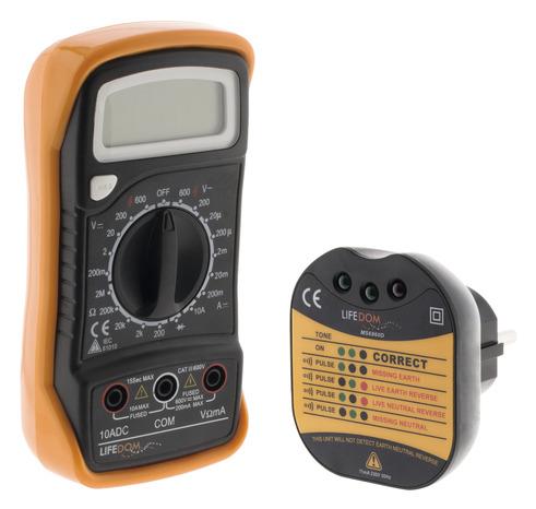 Lot Multimetre Digital Testeur De Prise Brico Depot