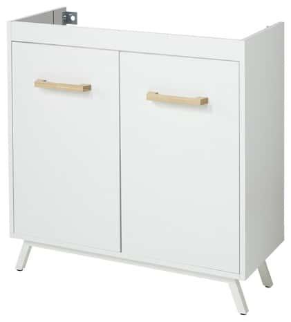 meuble sous vasque poser blanc cm ladoga brico. Black Bedroom Furniture Sets. Home Design Ideas