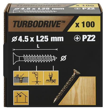 Vis Agglo Turbo 4 5 X 25 Mm 100 Pcs Brico Depot
