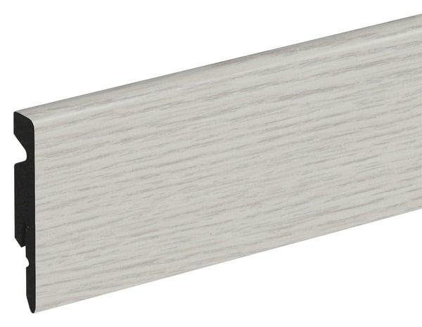 plinthe pvc blanc long 220 x haut 6 cm x p 11 mm. Black Bedroom Furniture Sets. Home Design Ideas