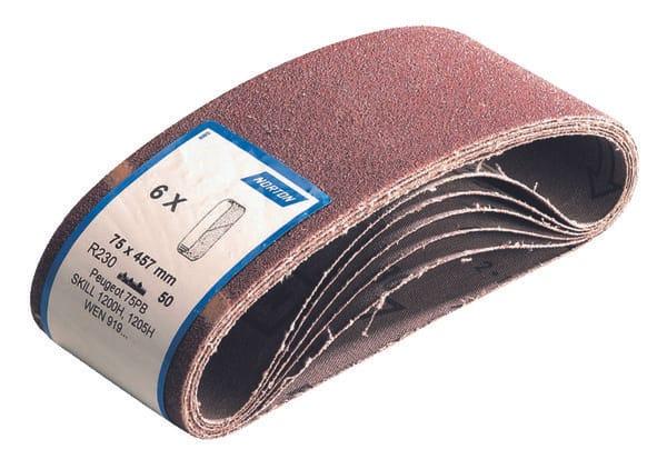 6 Bandes Sans Fin R227 Pour Ponceuse Portative Grain 80 100 X 560 Mm Brico Depot
