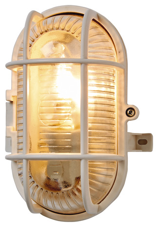 Hublot Oval Ip44 17cm Blanc